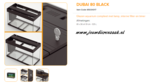 Ferplast - Dubai 80 Zwart 81x36x51cm