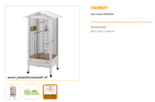 Ferplast - Hemmy 84,5 x 65,5 x 165 cm