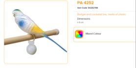 Ferplast - PA 4252 Plastic Parkiet 9 cm