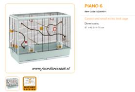 Ferplast - Piano 6 87 x 46,5 x 70 cm