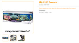 Ferplast - Star 200 Zeewater 202x62x72.5cm
