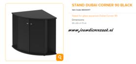 Ferplast - Meubel Dubai Corner 90 Zwart 65x90x73cm
