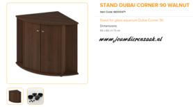 Ferplast - Meubel Dubai Corner 90 Walnoot 65x90x73cm