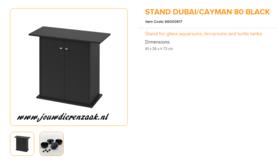 Ferplast - Meubel Dubai 80 Zwart 81x36x73cm