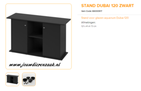 Ferplast - Meubel Dubai 120 Zwart 121x41x73cm