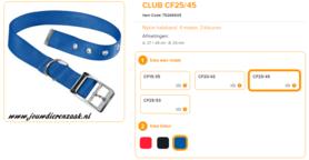 Ferplast - Nylon Halsband Club met Gesp Blauw 37-45cm - 25mm