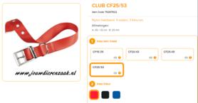 Ferplast - Nylon Halsband Club met Gesp Rood 45-53cm - 25mm