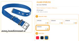 Ferplast - Nylon Halsband Club met Gesp Blauw 45-53cm - 25mm