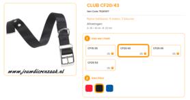 Ferplast - Nylon Halsband Club met Gesp Zwart 35-43cm - 20mm
