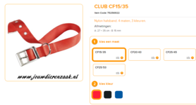 Ferplast - Nylon Halsband Club met Gesp Rood 27-35cm - 15mm