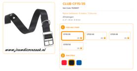 Ferplast - Nylon Halsband Club met Gesp Zwart 27-35cm - 15mm
