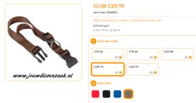 Ferplast - Nylon Halsband Club Bruin 45-70 25mm