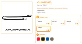 Ferplast - Nylon Lijn Club Zwart 120cm - 25mm