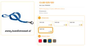 Ferplast - Nylon Lijn Club Blauw 120cm - 25mm