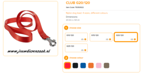 Ferplast - Nylon Lijn Club Rood 120cm - 20mm