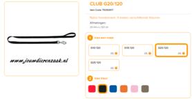Ferplast - Nylon Lijn Club Zwart 120cm - 20mm