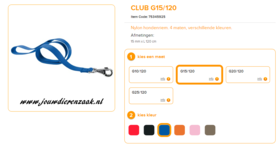 Ferplast - Nylon Lijn Club Blauw 120cm - 15mm