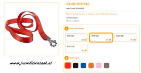 Ferplast - Nylon Lijn Club Rood 120cm - 15mm