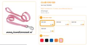 Ferplast - Nylon Lijn Club Roze 120cm - 10mm