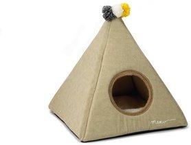 Beeztees Textiele Kattentent Piramido 45x45x45cm (beige)