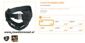 Ferplast - Culotte Hygienische Broekje Zwart Mini 32 - 37 cm