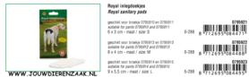 Periodieke Inlegdoekje Large 9 x 5,5 cm (geschikt voor 795914 en 795915)