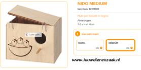 broedblok ZG5 Nido Medium 19,5 x 14 x 14 cm