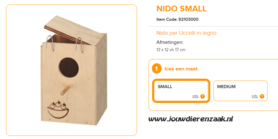 broedblok ZG3 Nido Small 13 x 12 x 17 cm