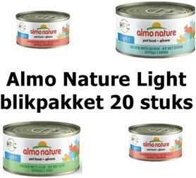 Almo Nature light blik pakket kat 5 x 4 stuks assorti