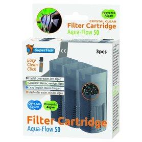 SuperFish Aqua Flow 50 Crystal Cartridge 3 stuks