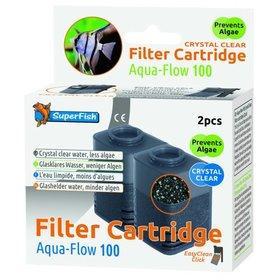 SuperFish Aqua Flow 100 Crystal Cartridge 2 stuks