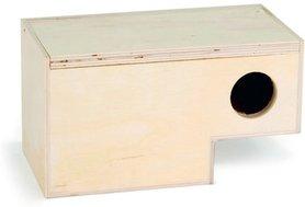 broedkastje gouldamadine hout met lage instap