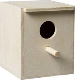 broedkastje met zitstok hout klein