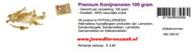 Braaaf Premium Konijnenoren 100 Gram
