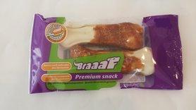 Braaaf Premium Snack Geperst Been Met Kip 2 X 12.5 CM