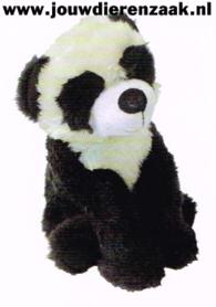 Hondenspeelgoed Pluche Zit Panda met Piep 23 Cm