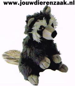 Hondenspeelgoed Pluche Zit Wasbeer met Piep 23 Cm