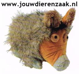Hondenspeelgoed Pluche Wild Zwijn met Piep 24 Cm