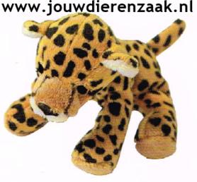 Hondenspeelgoed Pluche Mini Luipaard 14 Cm
