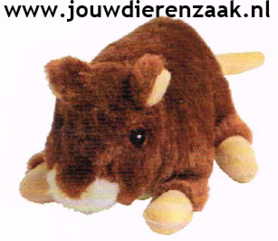 Hondenspeelgoed Pluche Hamster met Piep 17 Cm
