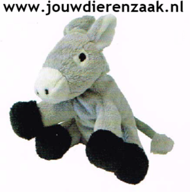 Hondenspeelgoed Pluche Mini Ezel 14 Cm