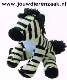 Hondenspeelgoed Pluche Mini Zebra 14 Cm