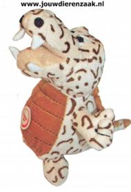 Hondenspeelgoed Pluche Krokodil + Piep Bruin/Beige 25 Cm