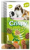 Versele-Laga Crispy Toasties Gebakken Groentenkoekjes voor Knaagdieren 150 Gram