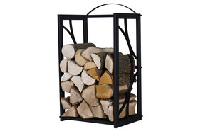 Magnus Firewood Racks R131 black 90x45X35cm