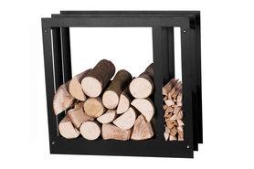 Magnus Firewood Racks R124A black 80x20X70cm