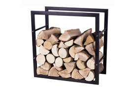 Magnus Firewood Racks R123A black 80x20X80cm