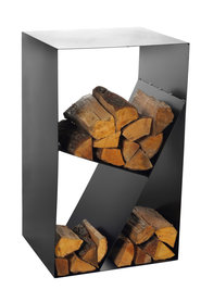 Magnus Firewood Racks R122 black 45x30X80cm