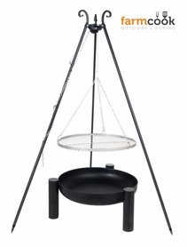 Farmcook grill Viking with fire bowl 38 stainless steel grate 60/70/80 cm