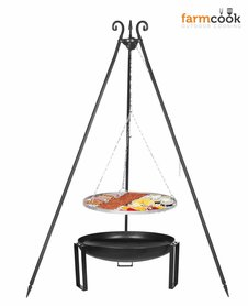 Farmcook grill Viking with fire bowl 36 stainless steel grate 60/70/80 cm